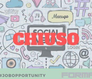 La Ricerca Forma-x per addetto/a web e social media è chiusa