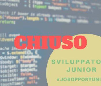 La posizione come sviluppatore junior è chiusa