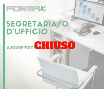 Forma-x ha chiuso l'offerta per segretaria amministrativa