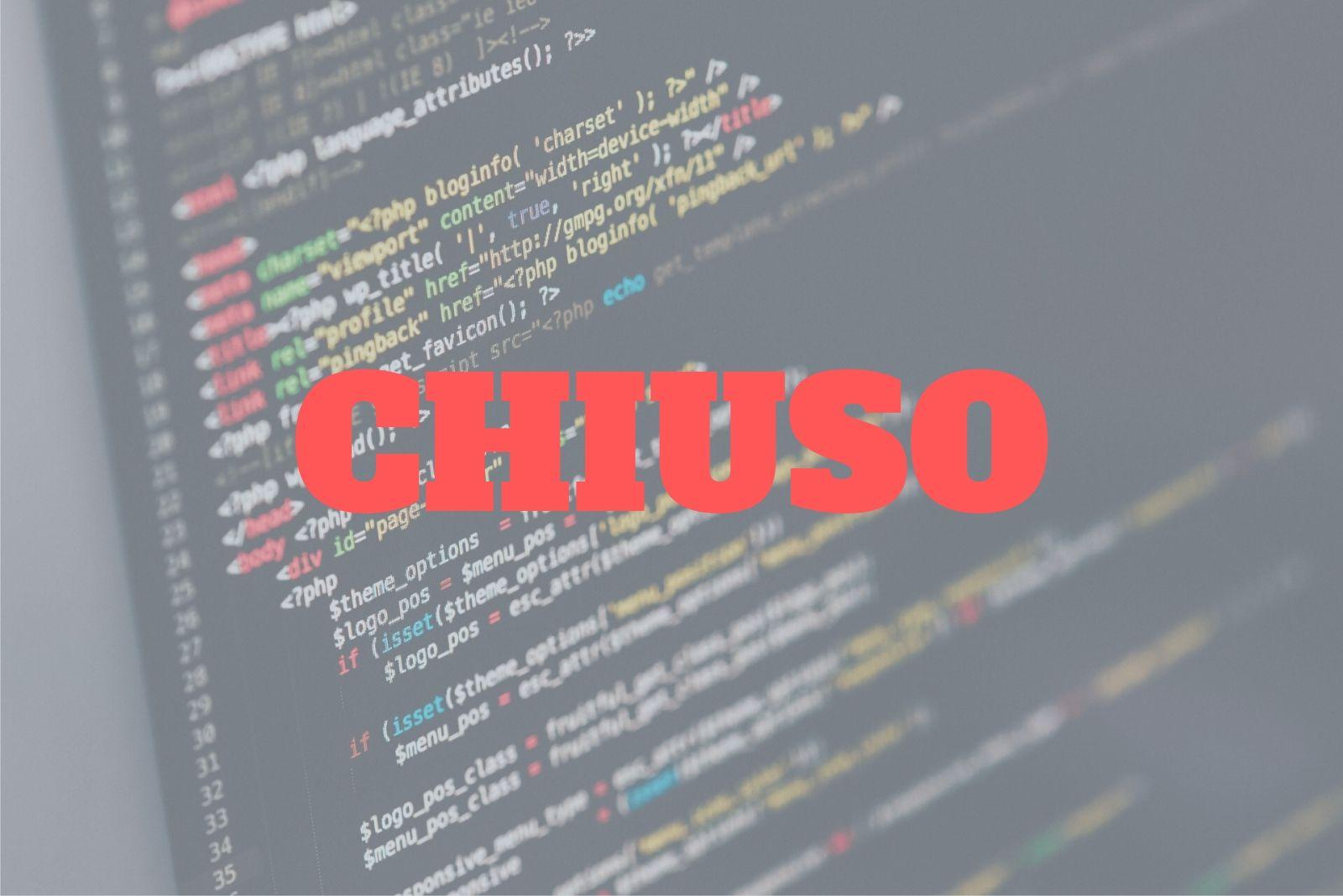La ricerca Forma-x per programmatore senior full stack Java è chiusa