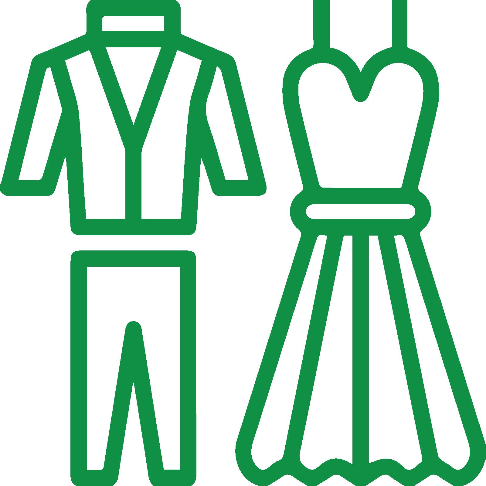 Icona: due abiti uno da uomo e uno da donna